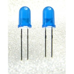 Lot de 2 leds bleues 5mm