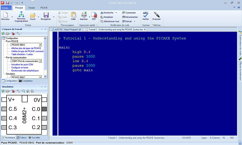 Programmation des microcontrleurs picaxe sciox Images