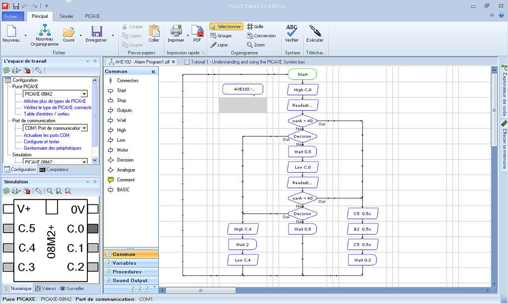 Programmation des microcontrleurs picaxe tutoriels picaxe initiation sciox Images